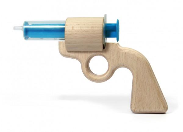 ISYbe Aqua Joe Wasserpistole für Kinder, ökologisches Holzspielzeug
