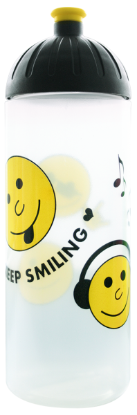 ISYbe Trinkflasche transparent Smile 0,7 L