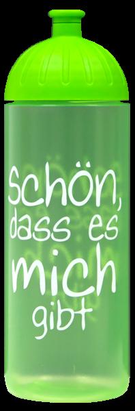 ISYbe Trinkflasche grüntransparent Schön, dass.. 0,7 L