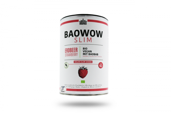 Berlin Organics BIO Vegan Slim Shake BAOWOW Erdbeere 420 g