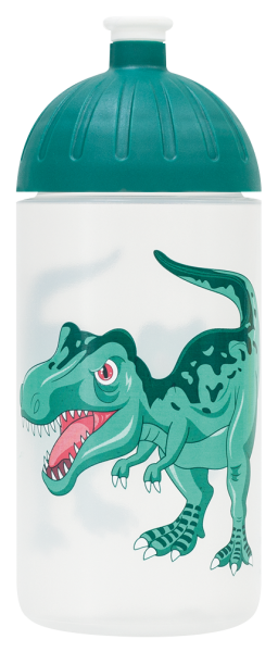 ISYbe Trinkflasche transparent Dino 0,5 L