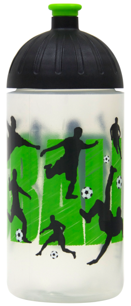 ISYbe Trinkflasche transparent Fußball 0,5 L