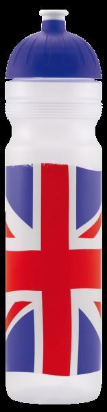 ISYbe Outdoor-Trinkflasche, Britisch 1,0L, BPA-frei, auslaufsicher, Kohlensäure geeignet
