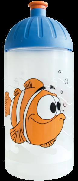 ISYbe Trinkflasche transparent Fisch 0,5 L