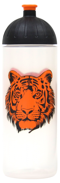 ISYbe Trinkflasche transparent Tiger 0,7 L