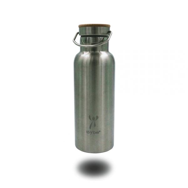 ISYbe Trinkflasche Edelstahl, Metall, BPA-frei, auslaufsicher, isoliert, nachhaltig