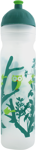 ISYbe Trinkflasche transparent Wald 1 L