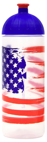 ISYbe Trinkflasche transparent USflag 0,7 L