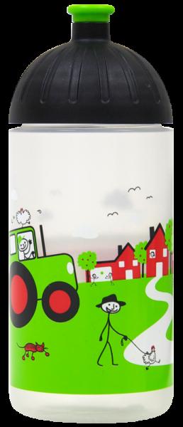 ISYbe Trinkflasche transparent Landleben 0,5 L