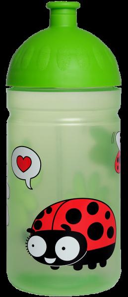 ISYbe Kindergarten-Trinkflasche, Marienkäfer 0,5, BPA-frei, auslaufsicher, Kohlensäure geeignet