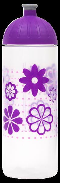 ISYbe Trinkflasche transparent Blumen 0,7 L