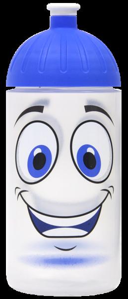 ISYbe Trinkflasche transparent Gesicht 0,5 L