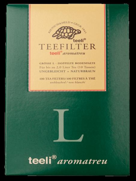 ISYbe BIO Teefilter L, naturbraun, aromatreu, Papier, 100 Stück