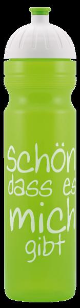 ISYbe Schul-Trinkflasche, Schön, dass ... 1,0L, BPA-frei, auslaufsicher, Kohlensäure geeignet