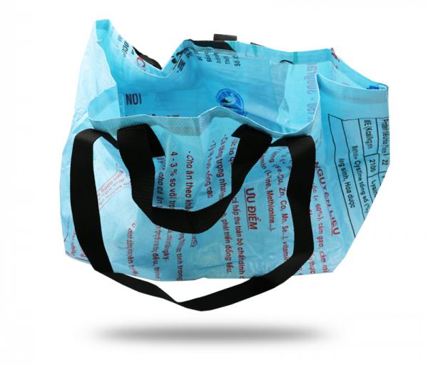 ISYbe Bag Einkaufstasche Groß - blau seitlich