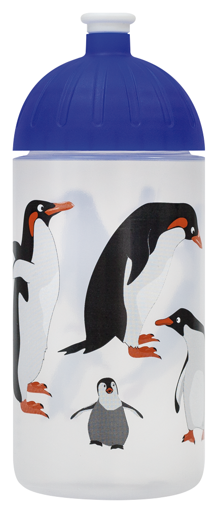 isybe trinkflasche transparent pinguin 0 5 l isybe. Black Bedroom Furniture Sets. Home Design Ideas