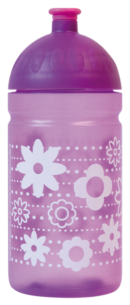 ISYbe Trinkflasche 0,5L lila Blume