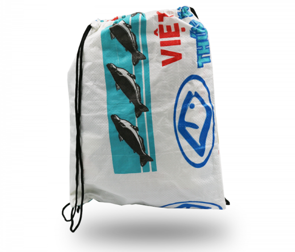 ISYbe Bags Turnbeutel - weiß hinten