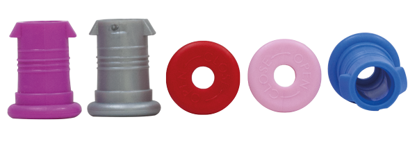 ISYbe Flaschen Set 5x Trinkverschluss (rot, silber, pink, rosa, hellblau)