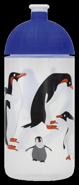 ISYbe Kindergarten-Trinkflasche, Pinguin 0,5L, BPA-frei, auslaufsicher, Kohlensäure geeignet