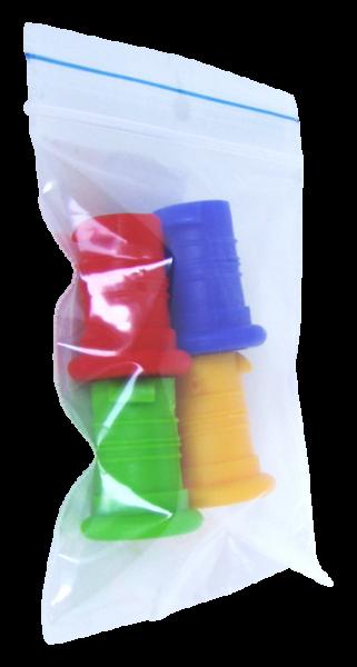 ISYbe Flasche Verschlüsse (blau,rot,gelb,grün)