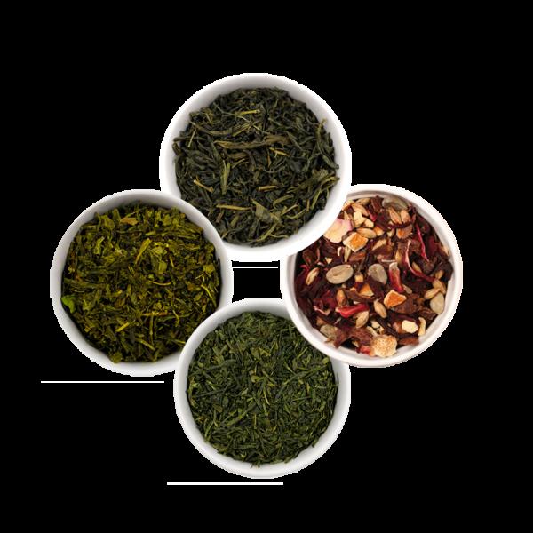 "ISYbe BIO Tee: Probierset ""Grüner Tee"" + extra Bio Energie Drink Orange Tee"