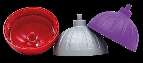 ISYbe 3x Ersatzdeckel (rot, lila, silber)