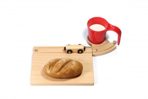 Holz Eisenbahn Frühstücksset - rot