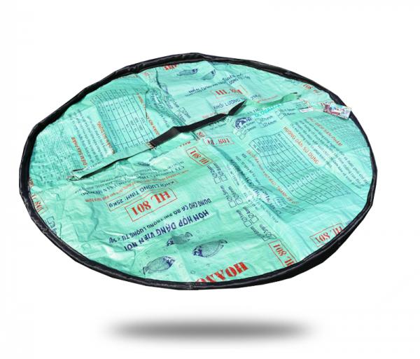 ISYbe Bags Picknickdecke / Funktionstasche - grün als decke