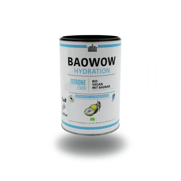 """Berlin Organics Isotonisches Getränkepulver """"BAOWOW Hydration Zitrone"""" 400g"""