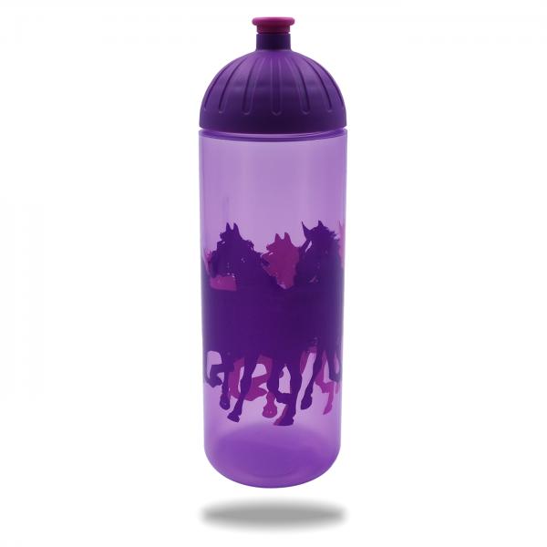 ISYbe Trinkflasche lilatransparent Pferde lila 0,7 L - Ansicht 1