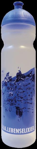 ISYbe Trinkflasche Transparent 1 Liter Wasser