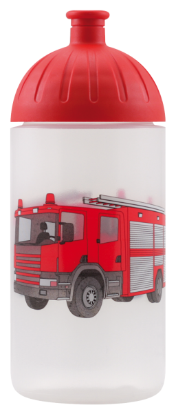 ISYbe Kinder-Trinkflasche, Feuerwehr 0,5L, BPA-frei, auslaufsicher, Kohlensäure geeignet