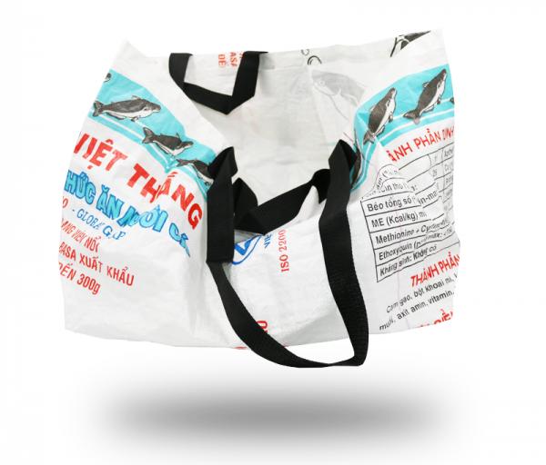 ISYbe Bag Einkaufstasche Groß - weiß seitlich
