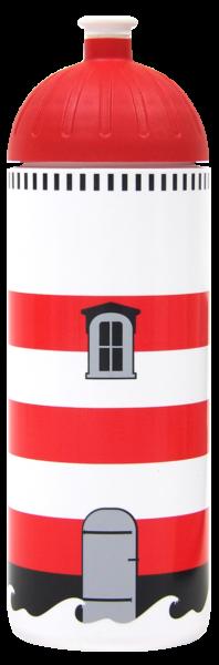 ISYbe Trinkflasche weiß Leuchtturm 0,7 L