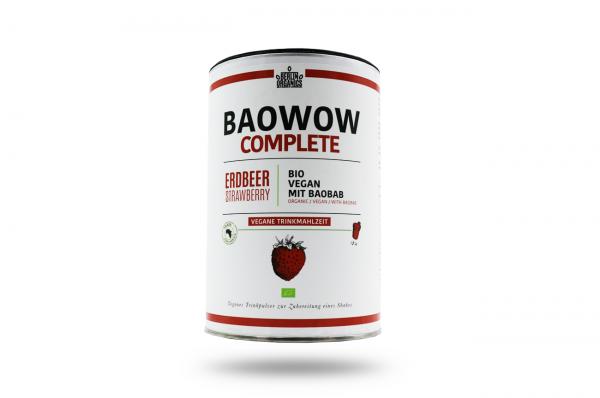 Berlin Organics BIO Vegane Trinkmahlzeit BAOWOW Complete Erdbeere 400 g
