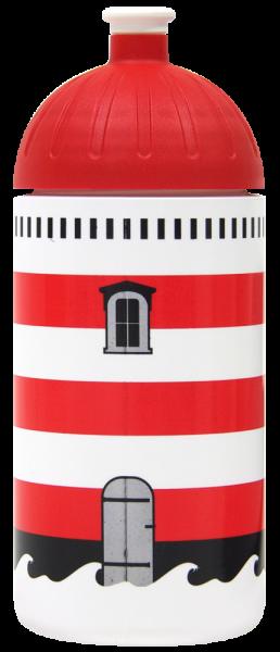 ISYbe Trinkflasche weiss Leuchtturm 0,5 L