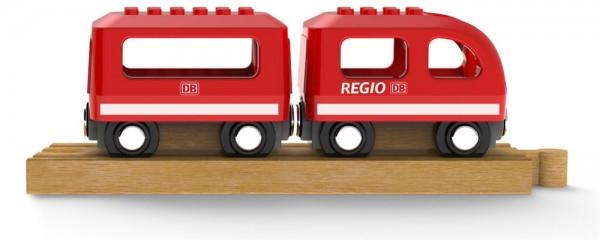 """ISYbe Noppi Eisenbahn """"Regio"""", mit Lego und Holzeisenbahnen kompatibel"""