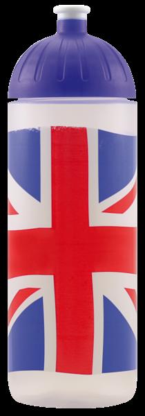 ISYbe Kinder-Trinkflasche, Britisch 0,7L, BPA-frei, auslaufsicher, Kohlensäure geeignet