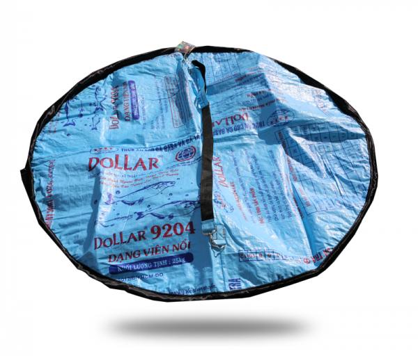 ISYbe Bags Picknickdecke / Funktionstasche - blau als decke