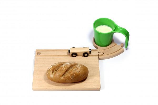 Holz Eisenbahn Frühstücksset - grün