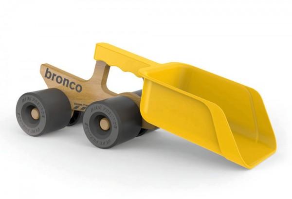 ISYbe Bronco Schaufeltruck, Sandspielzeug aus Kunststoff und Buchenholz